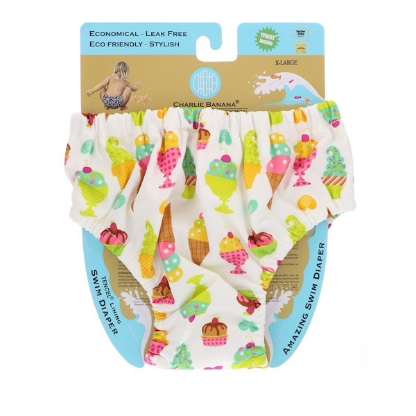 Charlie Banana, Reusable Swim Diaper, Gelato, X-Large, 1 Diaper (Discontinued Item)