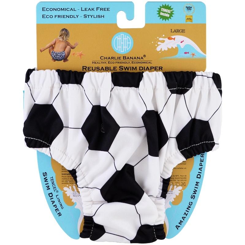 Reusable Swim Diaper, Soccer, Large, 1 Diaper