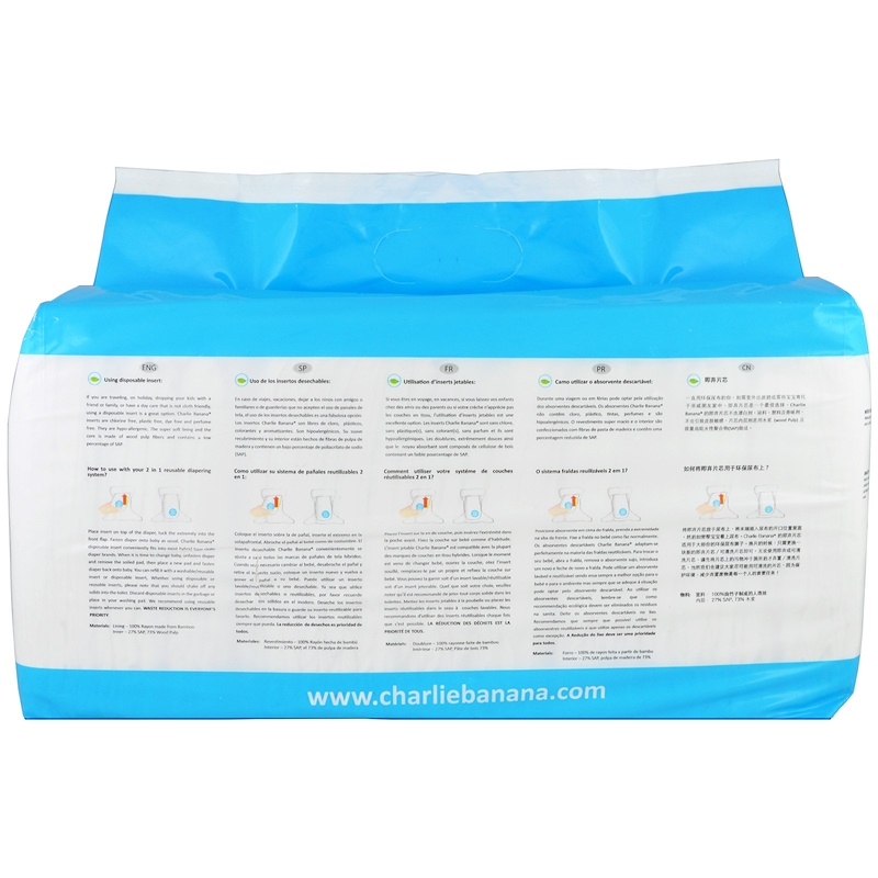 Charlie Banana, Disposable Inserts, Reusable Diapering System, 32 Inserts - photo 1