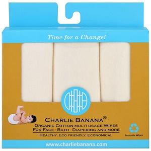 Чарли Банана, Organic Cotton Multi Usage Wipes , 10 Reusable Wipes отзывы