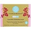 Charlie Banana, Toallas súper femeninas, Blancas, 3 toallas + 1 bolsa