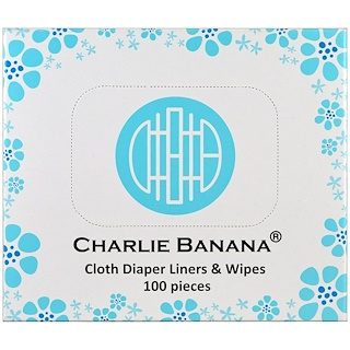 Charlie Banana, Cloth Diaper Liners & Wipes , 100 Pieces