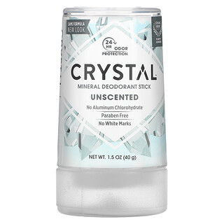 Crystal Body Deodorant, إصبع مزيل العرق بالأملاح المعدنية، غير معطر، 1.5 أونصة (40 جم)