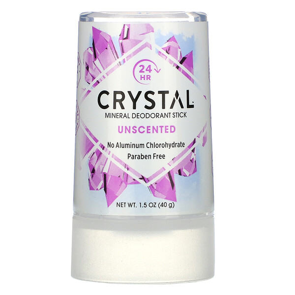 Mineral Deodorant Stick, Unscented, 1.5 oz (40 g)
