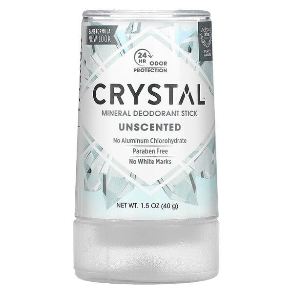 Crystal Body Deodorant, Déodorant minéral en stick, Inodore, 40g