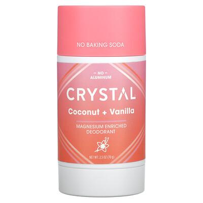 Купить Crystal Body Deodorant Magnesium Enriched Deodorant, Coconut + Vanilla, 2.5 oz (70 g)