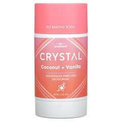 Crystal Body Deodorant, 鎂淨味劑,椰子 + 香草味,2.5 盎司(70 克)