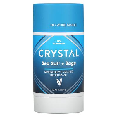 Купить Crystal Body Deodorant Magnesium Enriched Deodorant, Sea Salt + Sage, 2.5 oz (70 g)