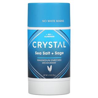 Crystal Body Deodorant, Magnesium Enriched Deodorant, Sea Salt + Sage, 2.5 oz (70 g)