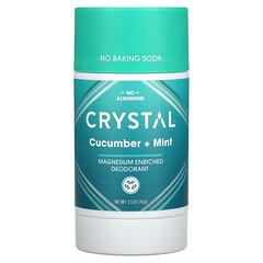 Crystal Body Deodorant, 鎂淨味劑,黃瓜 + 薄荷味,2.5 盎司(70 克)