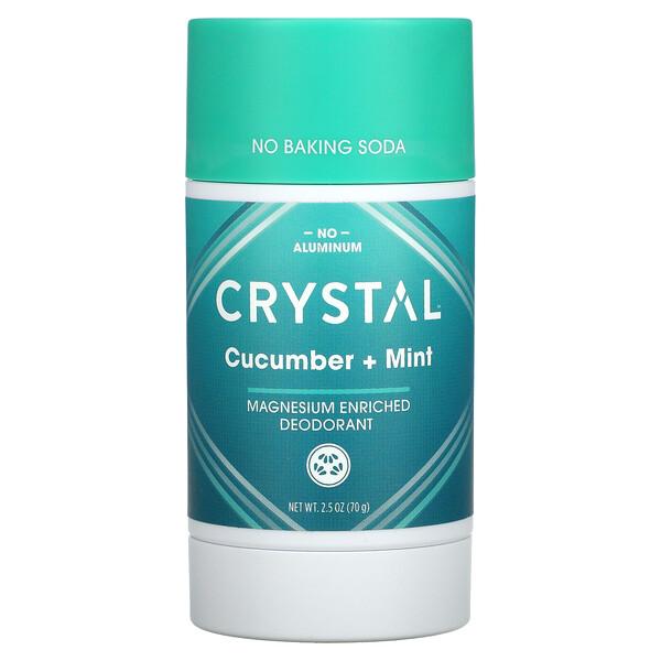 Magnesium Enriched Deodorant, Cucumber + Mint, 2.5 oz (70 g)