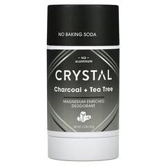 Crystal Body Deodorant, 鎂淨味劑,木炭 + 茶樹,2.5 盎司(70 克)