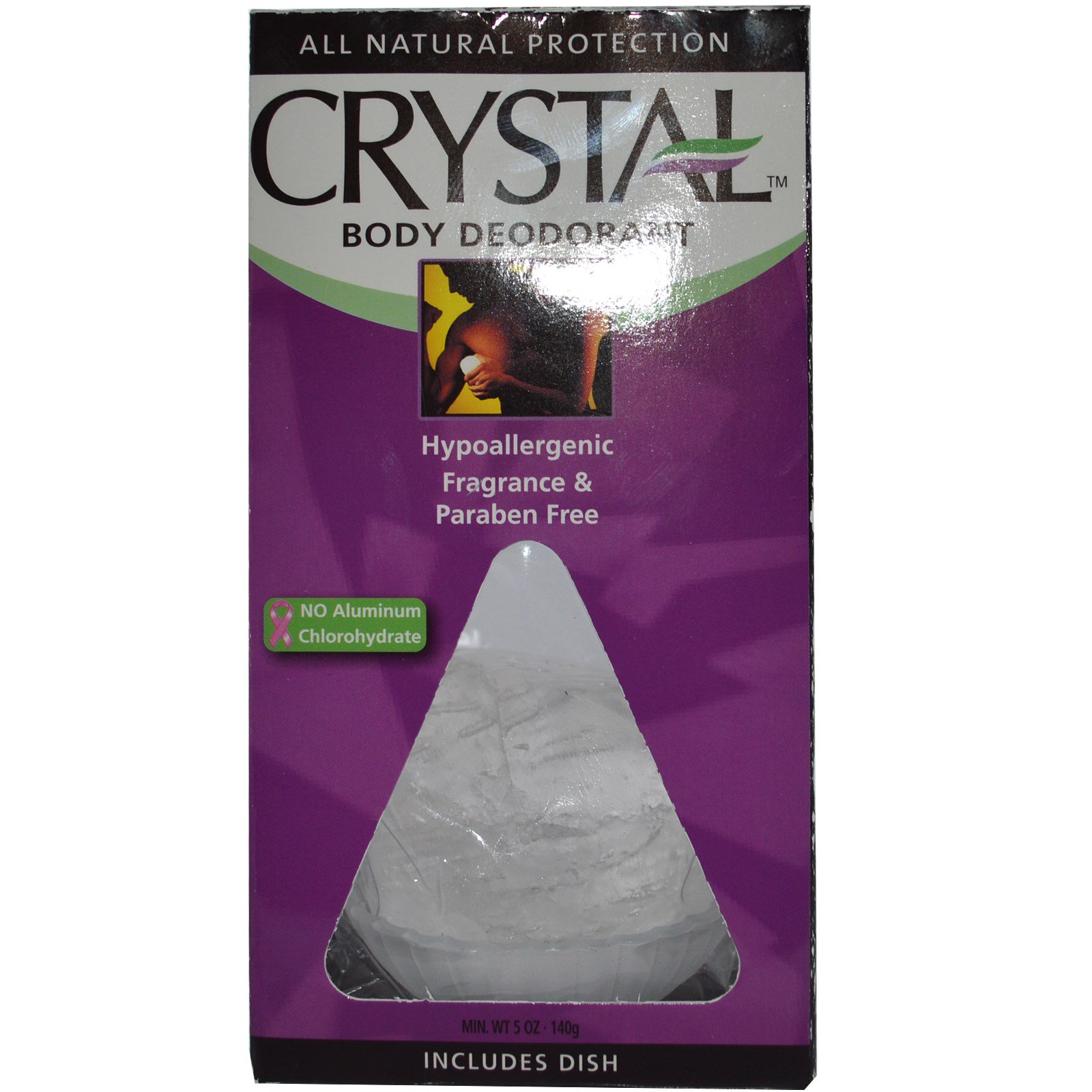 Crystal Body Deodorant, Дезодорант «Кристалл», 5 унций (140 г)