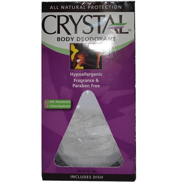 Crystal Body Deodorant, Deodorant Crystal、5 オンス (140 g)