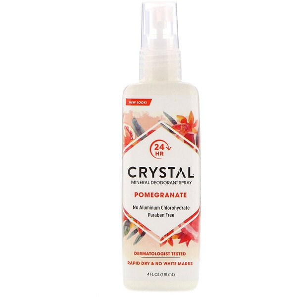 Crystal Body Deodorant, Mineral Deodorant Spray, Pomegranate, 4 fl oz (118 ml)