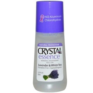 Crystal Body Deodorant, Crystal Essence, Mineral Deodorant Roll-On, Lavender & White Tea, 2.25 fl oz (66 ml)