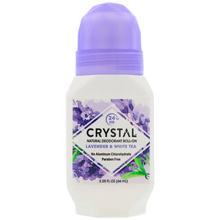 Crystal Body Deodorant, Natural Deodorant Roll-On, Lavender & White Tea, 2.25 fl oz (66 ml)