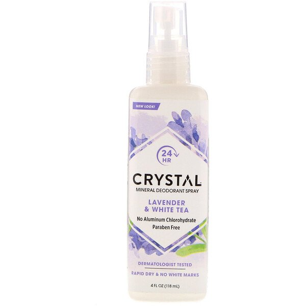 Mineral Deodorant Spray, Lavender & White Tea, 4 fl oz (118 ml)