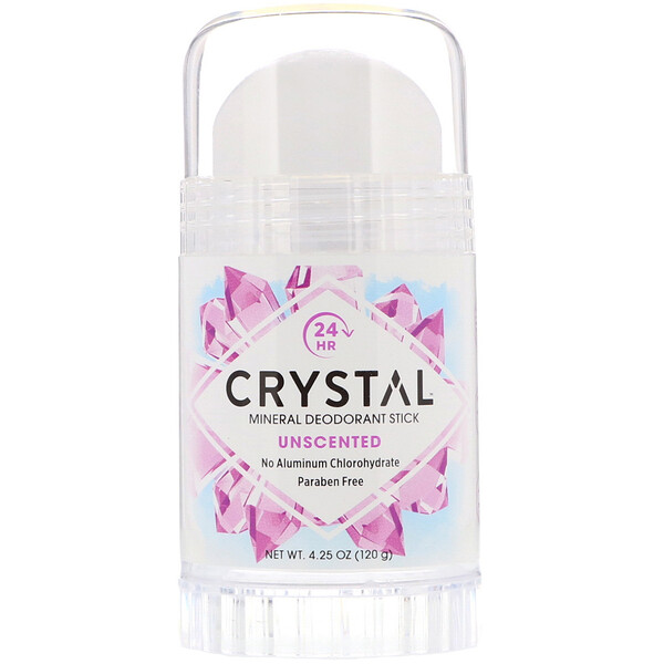 Crystal Body Deodorant, Mineral Deodorant Stick, Unscented, 4.25 oz (120 g)