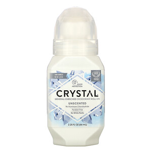 Кристал боди деодорант, Mineral-Enriched Deodorant Roll-On, Unscented, 2.25 fl oz (66 ml) отзывы покупателей