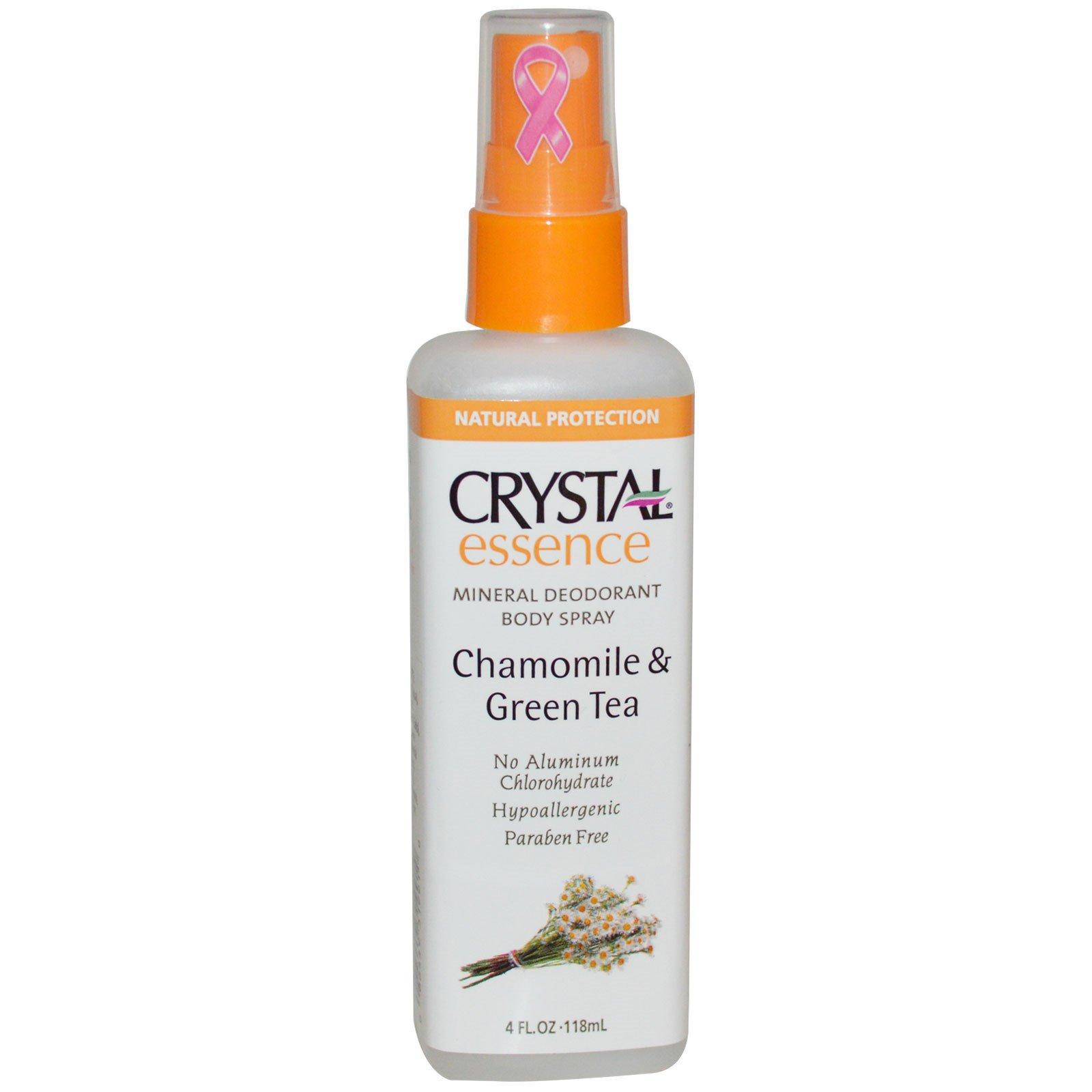 Crystal Body Deodorant, Crystal Essence, Дезодорант из натуральных минеральных солей, ромашка & зеленый чай, 4 жидких унции (118 мл)
