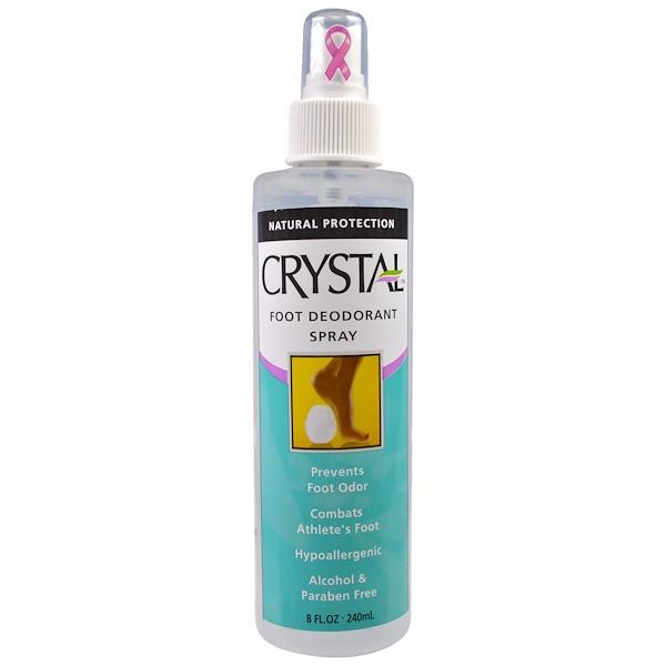 Crystal Body Deodorant, Foot Deodorant Spray, 8 fl oz (240 ml) (Discontinued Item)