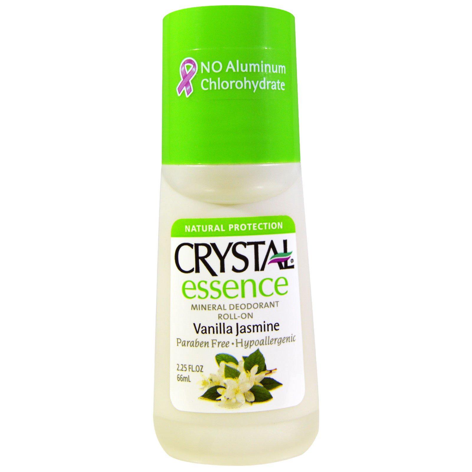Crystal Body Deodorant, Crystal Essence, минеральный роликовый дезодоранты, ваниль-жасмин, 66 мл (2,25 жидких унций)