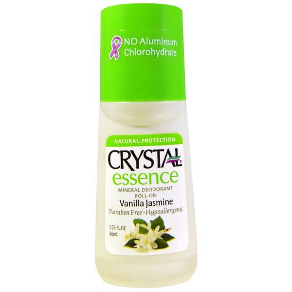 Crystal Body Deodorant, Crystal Essence, Mineral Deodorant Roll-On, Vanilla Jasmine, 2.25 fl oz (66 ml)