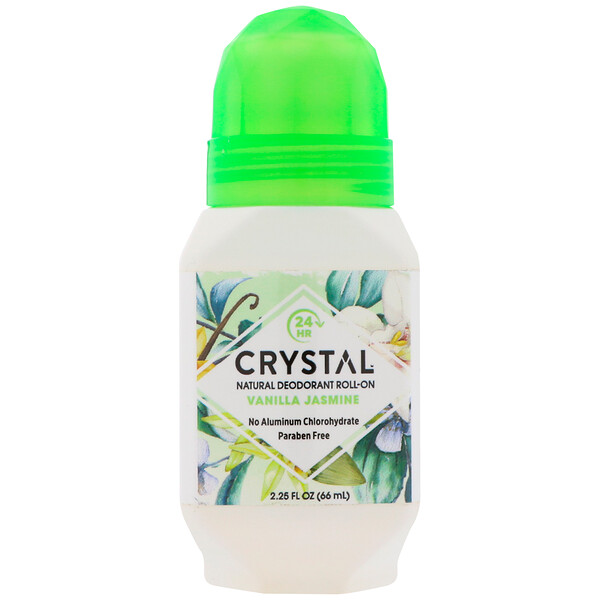 Crystal Body Deodorant, Natural Deodorant Roll-On, Vanilla Jasmine, 2.25 fl oz (66 ml)