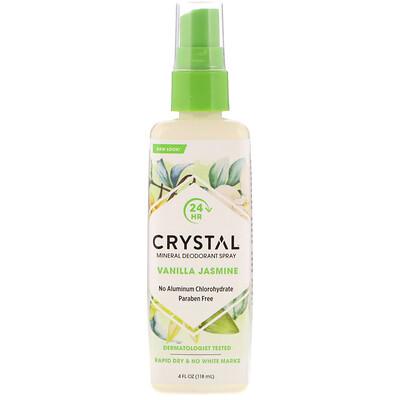 Mineral Deodorant Spray, Vanilla Jasmine, 4 fl oz (118 ml)