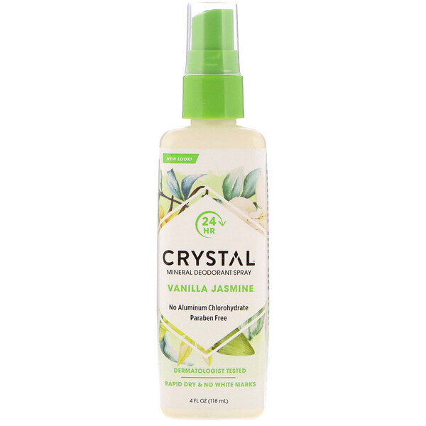 Crystal Body Deodorant, Mineral Deodorant Spray, Vanilla Jasmine, 4 fl oz (118 ml)