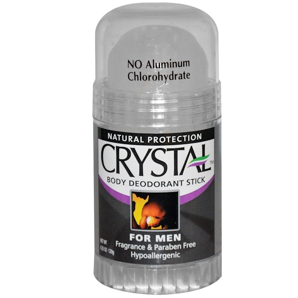 Crystal Body Deodorant, Body Deodorant Stick for Men, Fragrance Free, 4.25 oz (120 g)
