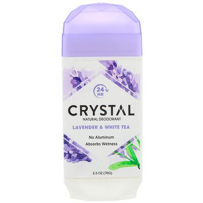 Купить Crystal Body Deodorant Натуральный дезодорант, лаванда и белый чай, 2, 5 унц. (70 г)