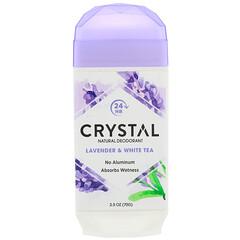 Crystal Body Deodorant, 天然淨味劑,薰衣花草和白茶,2.5盎司(70克)