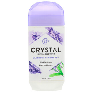 Crystal Body Deodorant, Natural Deodorant, Lavender & White Tea , 2.5 oz (70 g)