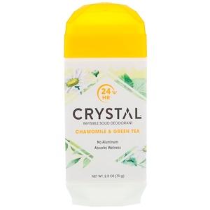 Кристал боди деодорант, Invisible Solid Deodorant, Chamomile & Green Tea, 2.5 oz (70 g) отзывы покупателей