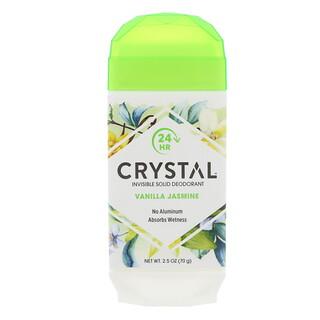 Crystal Body Deodorant, インビジブルソリッドデオドラント、バニラジャスミン、2.5オンス(70g)