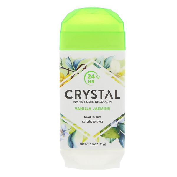 Crystal Body Deodorant, Invisible Solid Deodorant, Vanilla Jasmine, 2.5 oz (70 g)
