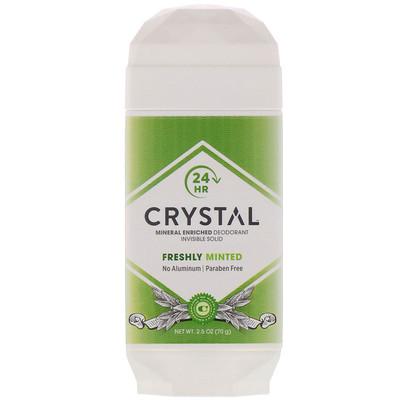 Купить Crystal Body Deodorant Mineral Enriched Deodorant Invisible Solid, Freshly Minted, 2.5 oz (70 g)