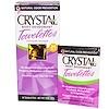 Crystal Body Deodorant, クリスタル脱臭ウェットティッシュ、ウェットティッシュ24枚、各0.1オンス(4 g) (Discontinued Item)