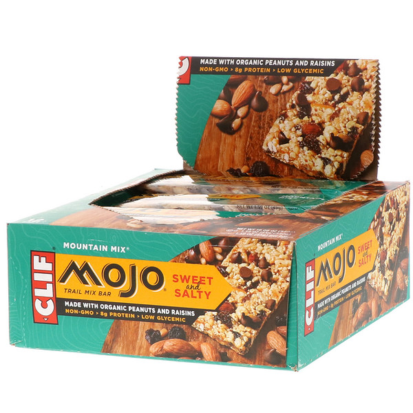 Clif Bar, Mojo, Sweet & Salty Trail Mix Bar, Mountain Mix, 12 Bars, 1.59 oz (45 g) Each (Discontinued Item)