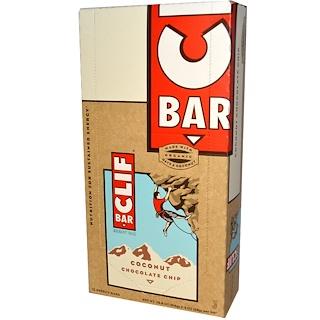 Clif Bar, Energy Bar, Coconut Chocolate Chip, 12 Bars, 2.4 oz (68 g) Each