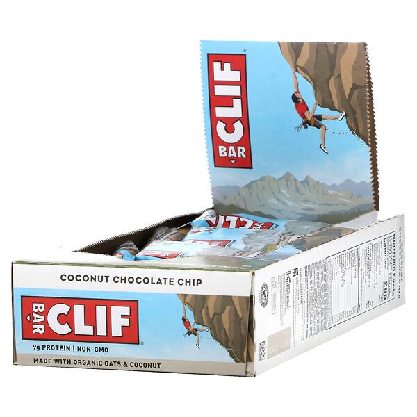 Energy Bar, Coconut Chocolate Chip, 12 Bars, 2.40 oz (68 g) Each