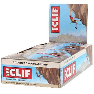 Клиф бар, Energy Bar, Coconut Chocolate Chip, 12 Bars, 2.40 oz (68 g) Each отзывы покупателей