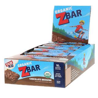 Clif Bar, Clif Kid, Organic Z Bar, Chocolate Brownie, 18 Bars, 1.27 oz (36 g) Each