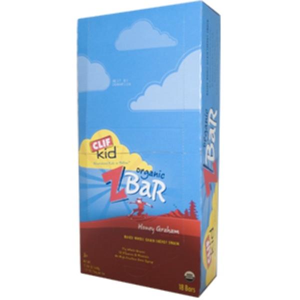 Clif Bar, Clif Kid, Organic ZBar, Honey Graham Natural Flavor, 18 Bars, 1.27 oz (36 g) Per Bar (Discontinued Item)