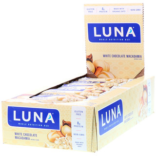 Clif Bar, Luna, Whole Nutrition Bar For Women, White Chocolate Macadamia, 15 Bars, 1.69 oz (48 g) Each