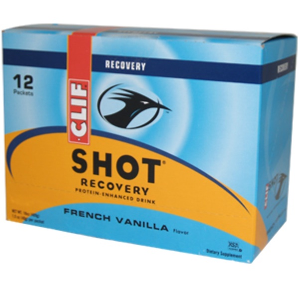 Clif Bar, Shot Recovery Protein-Enhanced Drink, French Vanilla Flavor, 18 oz (480 g) 12 Packets (Discontinued Item)