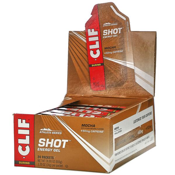 Clif Bar, Clif Shot Energy Gel, Mocha, 24 Packets, 1.20 oz (34 g) Each (Discontinued Item)