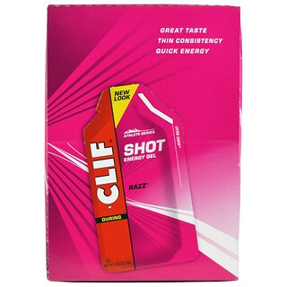 Clif Bar, Shot Energy Gel, Razz, 24 Packets, 1.20 oz (34 g) Each